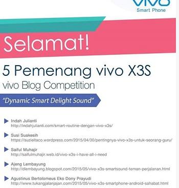Menang Lomba Blog vivo X3S